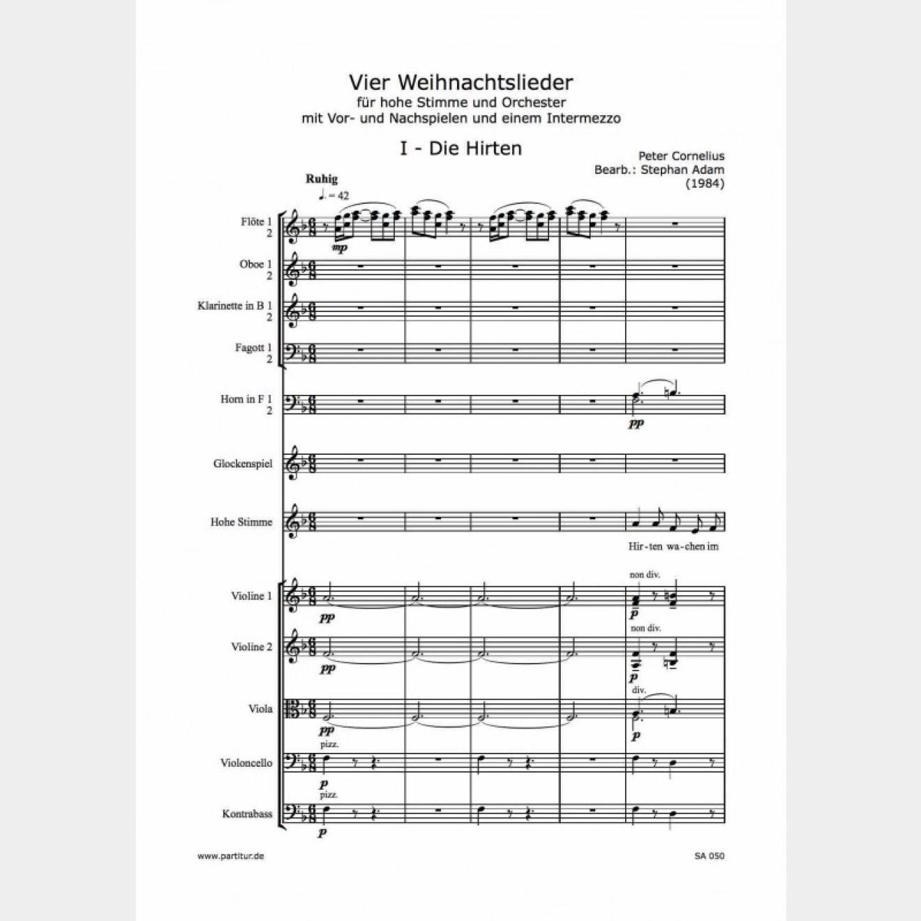 Vier Weihnachtslieder, 14`, H.H.-Musikverlag