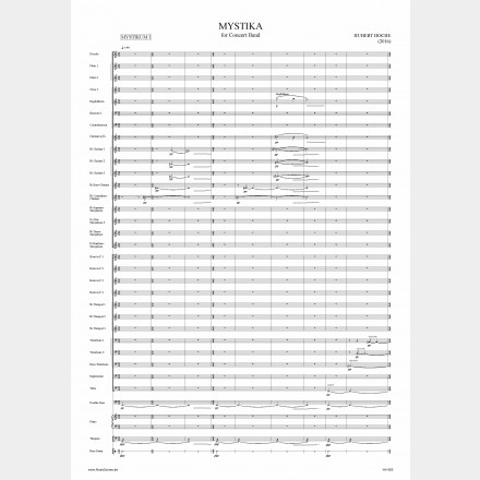 MYSTIKA for Concert Band, 50'