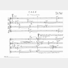 CAGE op. 72, 4' (Score and Parts)