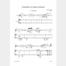 Incantation et Fugue burlesque, 8` (Partitur und Stimme)